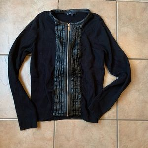 AK Anne Klein zip up sweater